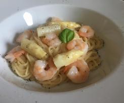 Spargel-Garnelen Sauce/Soße zu Pasta