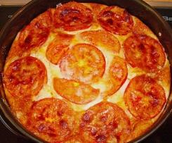 Schafskäse-Kuchen / Quiche mit Tomaten