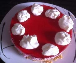 Kühlschrankkuchen - Göttliche Himbeer-Wölkchen-Torte