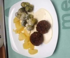 Rosenkohl, Kartoffeln mit Parmesansauce