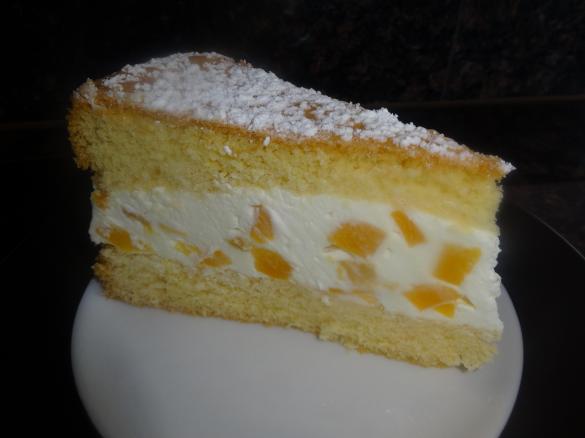 Kasesahne Torte Mit Pfirsichen Einfach Und Lecker Von 2008motte