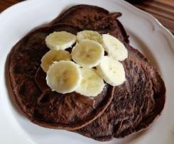 Glutenfreie, vegane Schoko Bananen Pancakes