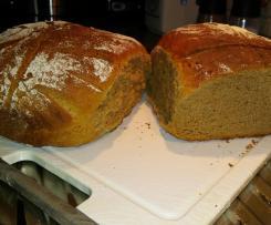 Brot, Misch, dunkel, Teig mit eher fester Konsistenz, Deichknust, norddeutsch