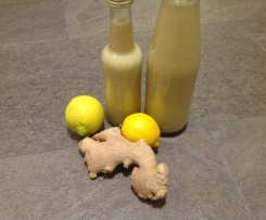 Ingwer Zitronen Sirup zuckerfrei Ingwersaft Ingwerzitronensaft