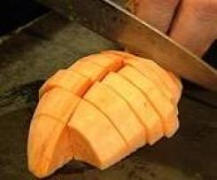 Leichte Variante des Süßkartoffelpürrees