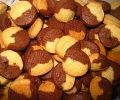 Butterschmalz Kekse braun-weiß / Rollenkekse