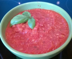 Vegane Bolognese Sauce, Fruchtige Pastasauce, Gemüsesauce, Tomatensauce