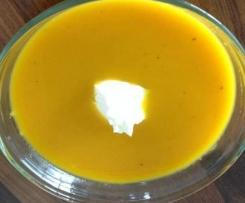 Krottensuppe - mit feiner Ingwersahne