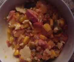 Meis-Würstchen - Käse Salat