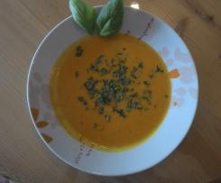 Kokos-Kürbiscreme-Suppe