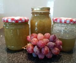 Weiße Trauben Marmelade