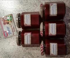 weihnachtliche Kirsch Lebkuchen Marmelade