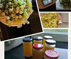 Marmelade aus Weintrauben mit Vanille