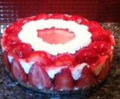 Erdbeer- Frischkäse Torte