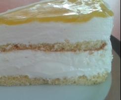 Maracuja-Frischkäsesahne-Torte