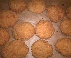 Erdnussbutter Protein Cookies