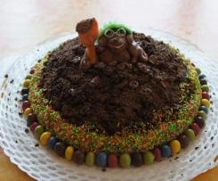 Variation von Schokoladigste und schnellste Maulwurftorte