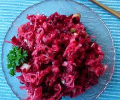 Sauerkrautsalat mit roter Bete