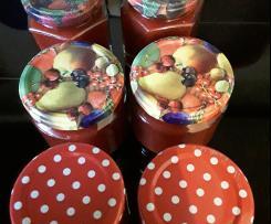 Erdbeermarmelade mit Vanille und Zitronenmelisse