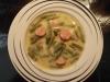 Grüne-Bohnen-Eintopf mit Mettwürstchen