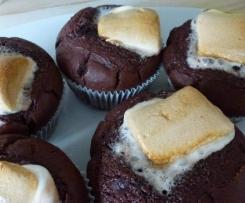 Marshmallows-Schoko Muffins mit flüssigen Kern