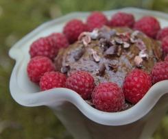 Schokopudding gesund avocado banane kakao datteln clean cleaneating gesund zuckerfrei raw vegan schokocreme