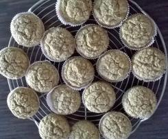 Buchweizen-Muffins (glutenfrei, laktosefrei und ohne Zucker)