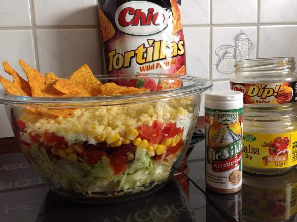 Taco Salat Mexikanischer Schichtsalat Von Jettek Ein Thermomix