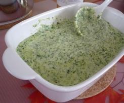 Gorgonzola-Spinat-Sauce zu Pasta oder Gnocchi