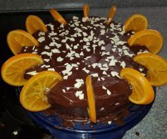 Orangen-Schokoladen-Torte