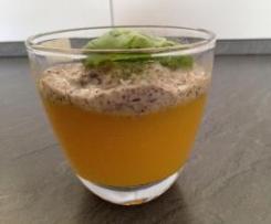 Mango - Gelee mit Mohnsoße