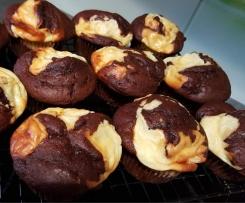 Schoko-Käsekuchen-Muffins