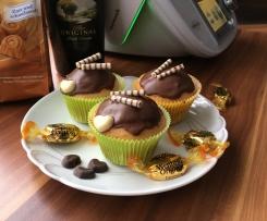 Muffins mit einem Hauch von Baileys und Karamellkern