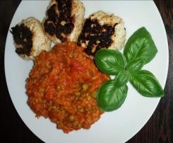 Hähnchenfrikadellen mit rotem Reis WW-tauglich