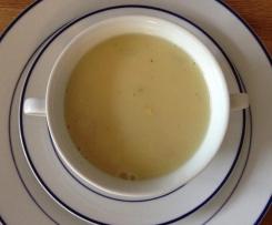 Spargelsuppe (Spargelcremesuppe) aus Spargelsud schnell und lecker
