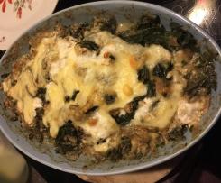 Schneller Spinat Champion Käse Auflauf WW