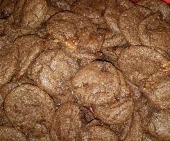 Schoko Cookies mit Karamellkern