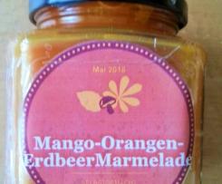 Mango-Orangen-Erdbeer Konfitüre