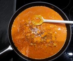 Low Carb Hühnerbrust Paprika Tomaten Pfanne