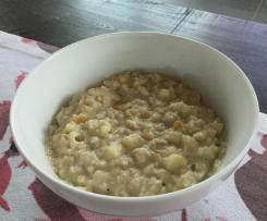 Variation Fitness-Porridge ohne Zucker