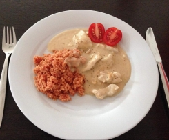 Putengeschnetzeltes mit Couscous