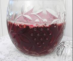 Rosenbowle -Rosenblütensirup + Rosenwasser-