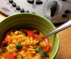 Curry Nudeleintopf mit Gemüse - Ruck Zuck  >>vegetarisch<<  >>vegan<<
