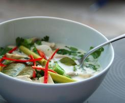 thailändische Hühnersuppe (Tom Kha Gai)