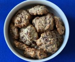 Cookies mit Cranberries, Schokolade und Cashewkernen