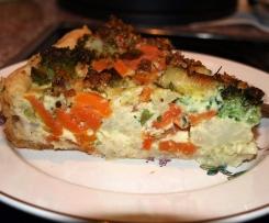 Herzhafte Brokkoli-Möhren-Torte