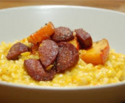 Kürbisrisotto mit Chorizo