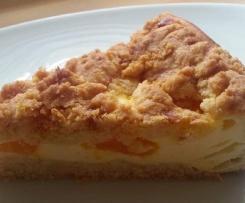 Quark-Streuselkuchen mit Mandarinen