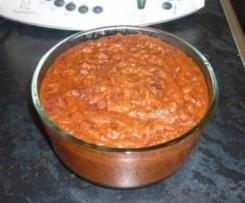 Variation von Mexican Bean Dip (Mexikanischer Bohnendip zu Tacos u. Tortillas) vegan, glutenfrei