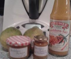 """Sanddorn-Papaya-Marmelade (auch mit """"Weihnachtshauch"""")"""